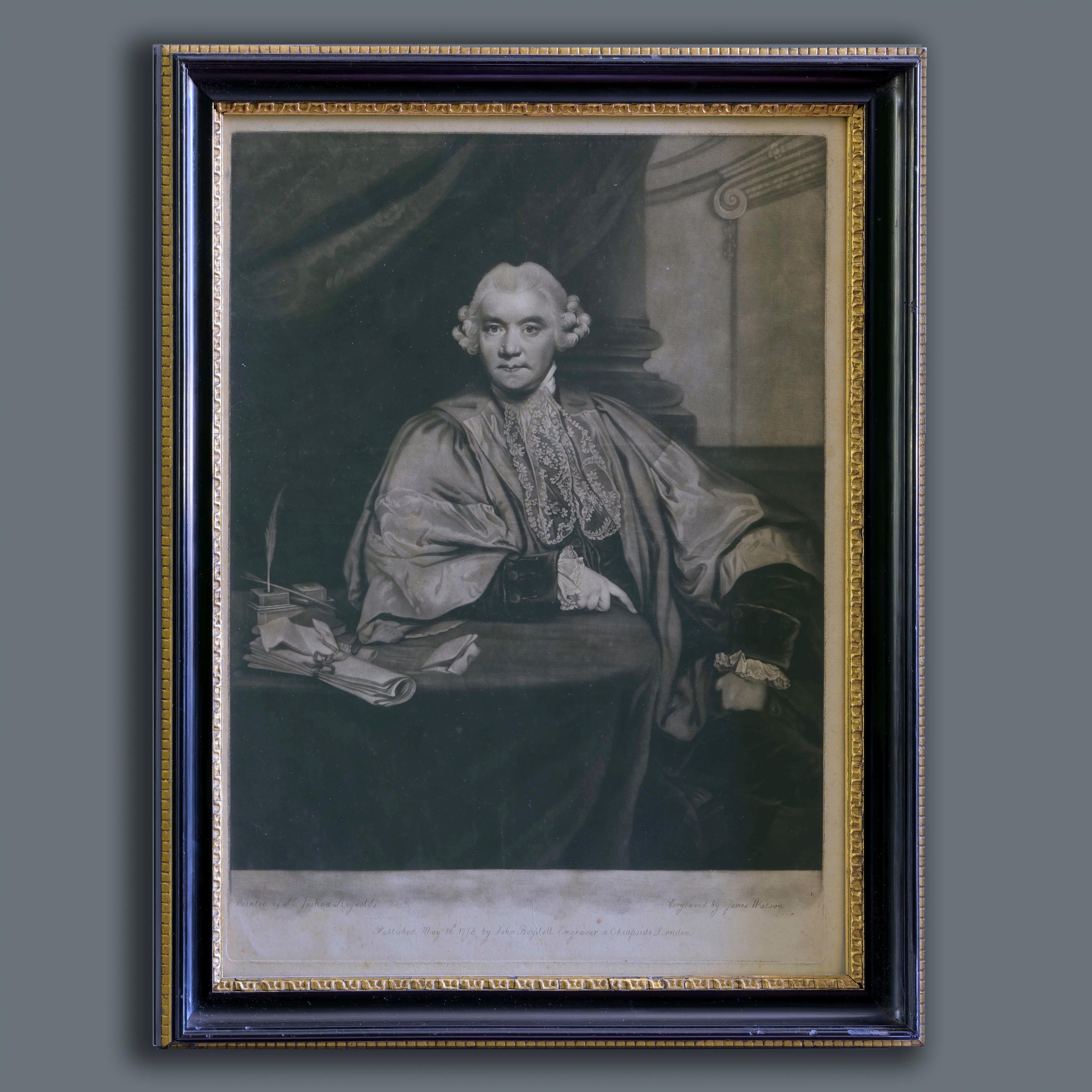 After Sir Joshua Reynolds, 18th Century Mezzotint Portrait of John Hely-Hutchins