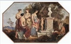 Allegoric Scene with Vestal Virgins and Satyr - 19th Century - Painting - Modern