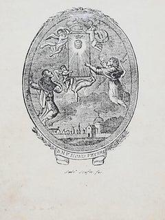 Allegorical Sublime - Original Etching - 19th Century