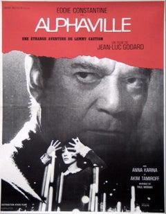 ALPHAVILLE (1965) - FRENCH MOVIE POSTER - NOUVELLE VAGUE -