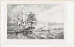 America  - Original Lithograph - 1830