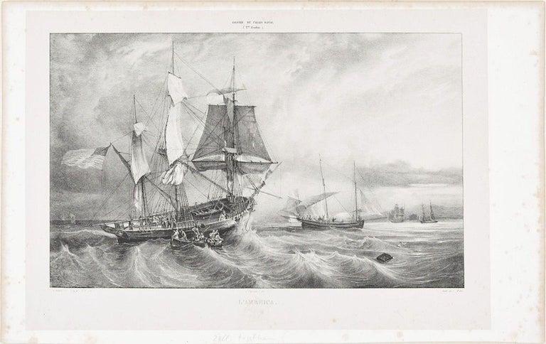 Unknown Landscape Print - America  - Original Lithograph - 1830