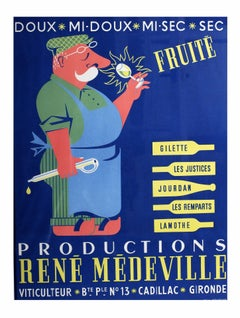 An original vintage drink advertising poster