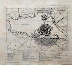 Ancient Map of Mantova - Original Etching - 19th century