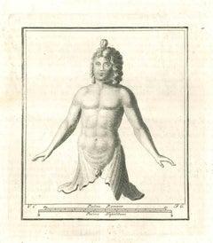 Ancient Roman Bust - Original Etching - 18th Century