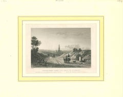 Ancient View of Amersfoort Original Lithograph on Paper - Early 19th Century