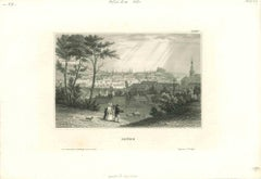 Ancient View of Brünn - Original Lithograph on Paper - Mid-19th Century