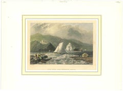 Ancient View of Caldwell's Landing - Original Lithograph - 1850a