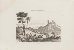 Ancient View of Cannes - Original Etching - 19th Century