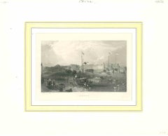 Ancient View of Canton - Original Lithograph on paper - Mid-19th Century