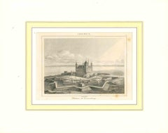 Ancient View of Chateau de Chronenbourg-Original Lithograph - Early 19th Century