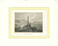 Ancient View of Frithiofs Bauta - Original Lithograph - Early 19th Century