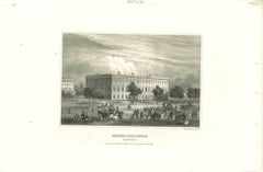 Ancient View of General Post Office - Original Lithograph - 1850s