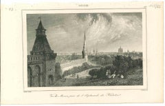 Ancient View of Moscow - Original Lithograph on paper - 1850s