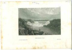 Ancient View of Niagara Falls - Original Lithograph - 1850