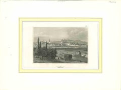 Ancient View of Olmutz - Original lithograph - First Half of the 19th century