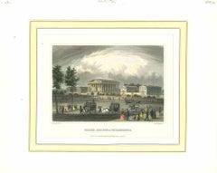 Ancient View of Philadelphia - Original Lithograph - Mid-19th Century