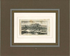 Ancient View of Prague - Original Lithograph - First Half of the 18th century