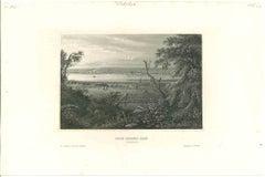 Ancient View of Rock Island City - Original Lithograph - 1850