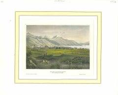 Ancient View of Salt Lake City - Original Lithograph - 1850s