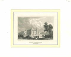 Ancient View of Schloss Friederichsburg - Lithograph on Paper - Early 1800