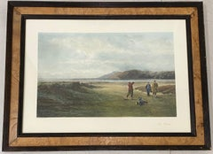 """Antique Color Lithograph """"The Drive"""" Original Painting by Adams, Published in Lo"""