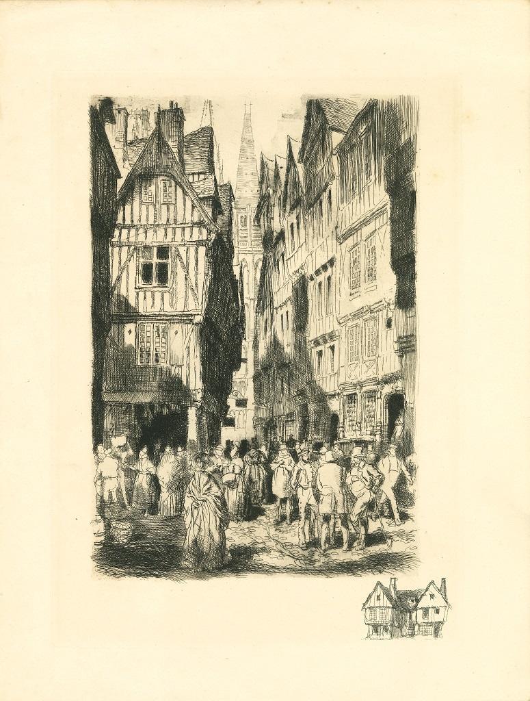 Antwerp - Original Etching - Early 20th Century