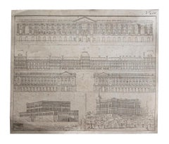 Architecture - Original Etching on Paper - 19th Century