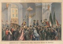 Arrival of King Vittorio Emanuele II in Naples, Palazzo Reale - Late 1800