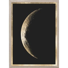 Atlas de Lune, No. 3, gold leaf, framed