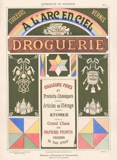 Attributs Au Pochoir, antique French pochoir advertising paints