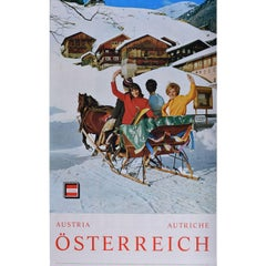 Austria Österreich - original vintage ski travel poster