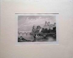 Avignon - Original Lithograph - Mid-19th Century