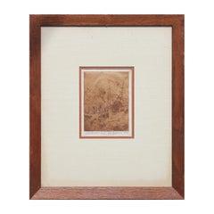 """BaitHouse"" Seascape Landscape Etching Signed Anderson Edition 8/10"