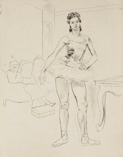 Ballerina - Original Etching - 1960s
