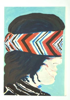 Banded - Original Lithograph - Late 20th Century