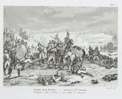 Battle of Trebbia - Original Lithograph - 19th Century