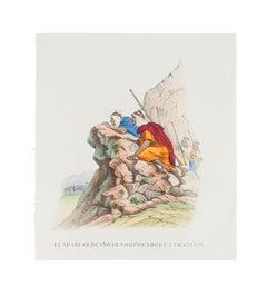 Battle - Original Lithograph - 1846