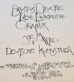 """Bauhaus """"Neue europäische Graphik"""" 3rd Portfolio German Artists"""