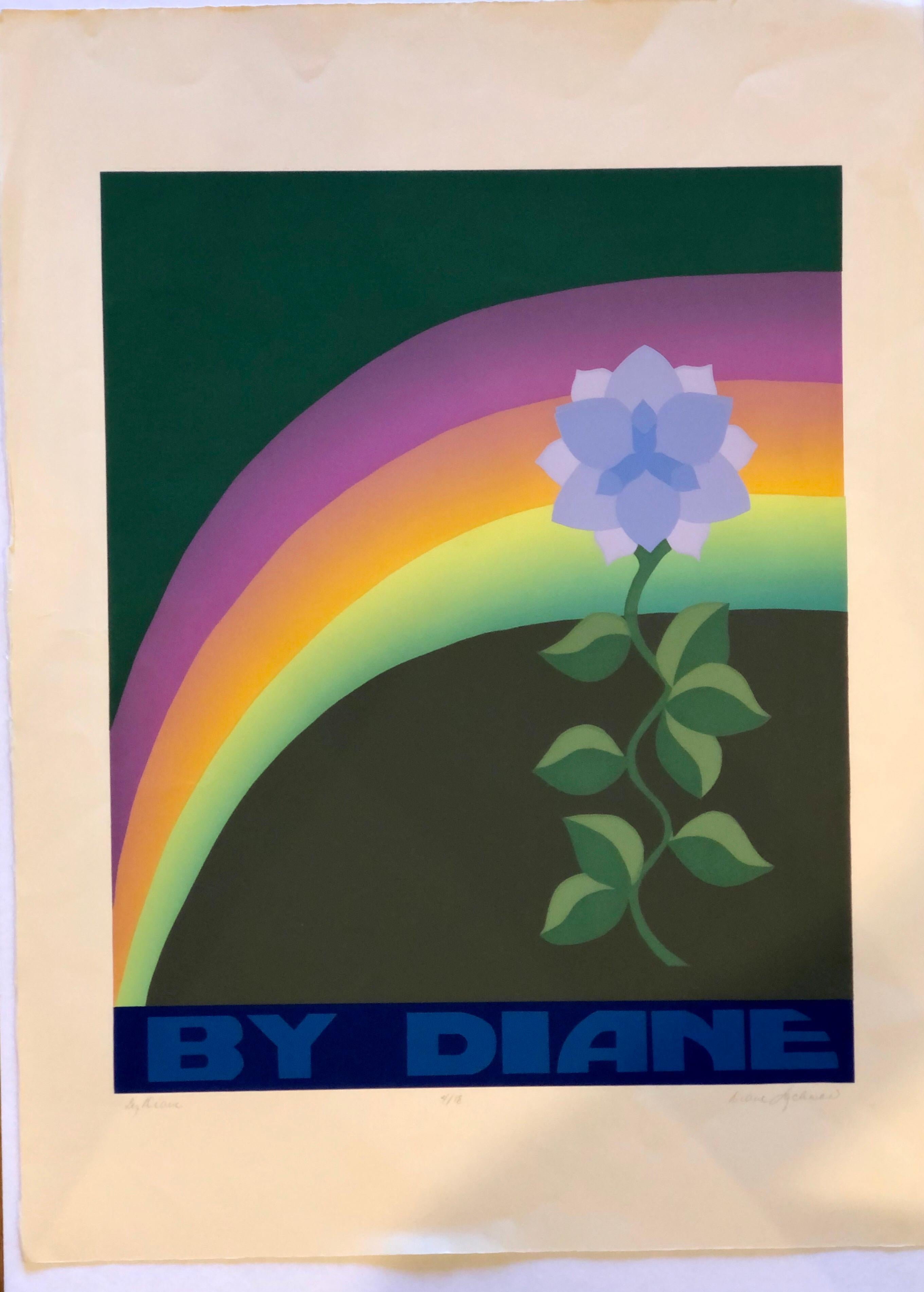 Beautiful Pop Art Lithograph Signed & Numbered 4/18 by Diane Lachman