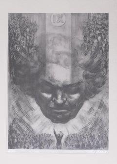 Beethoven - IX Sinfonie - Original Etching by German Master 20th Century