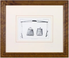 'Birchbark Sap Buckets and Yoke' original halftone print, Bureau of Ethnology
