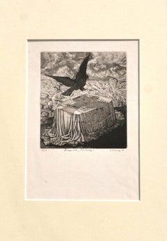 Bird - Original Etching - 1968