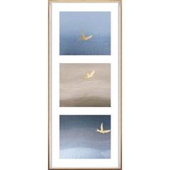 Birds of Flight, No. 1, gold leaf, framed