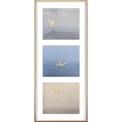 Birds of Flight, No. 2, gold leaf, framed
