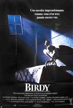 "Birdy (FOLDED)-61.75"" x 45.75""-Poster-1984-Vintage-Black, Blue"