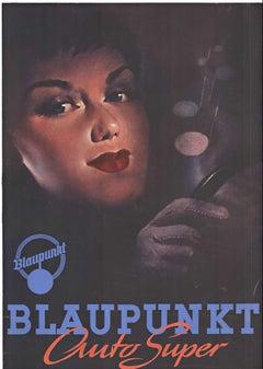 BLAUPUNKT Auto Super (woman's face) original vintage poster