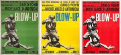 BLOW UP - VINTAGE FILM POSTER TRIPTYCH - CLASSIC - ICONIC - DAVID BAILEY - RARE