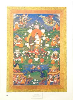 """""""Bodhisattva and Other Deities"""" by Unknown Tibetan Artist. Printed in Italy."""
