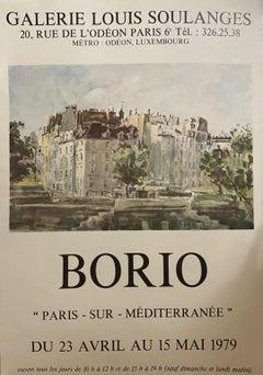 Borio - Vintage Poster Galerie Louis Soulanges - 1972